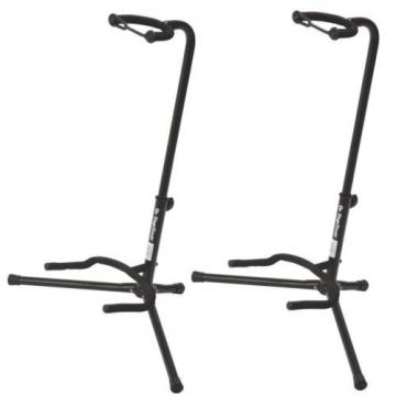 On Stage XCG4 Black Tripod Guitar Stand, 2 Pack