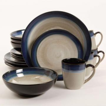 Gibson Home Terra Bella 16-Piece Dinnerware Set Blue