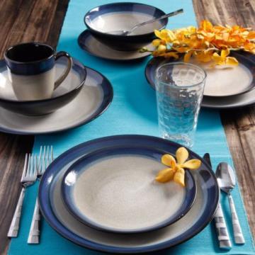 Gibson Home Terra Bella 16-Piece Dinnerware Set Blue