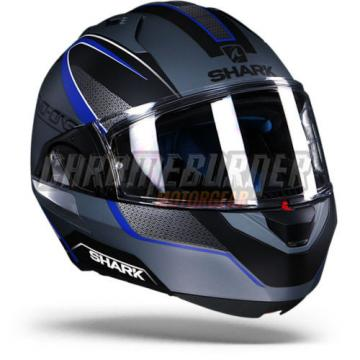 Shark Evo-One Astor Matt SKB Silver Black Blue, New!