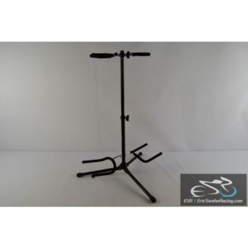 On-Stage Stands Black Double Guitar Stand Adjustable Tripod *NOTE*