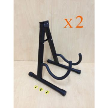Brand New Two (x2) A-Frame Folding Guitar Stand, Banjo Stand + 3 Free Picks