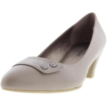 Naturalizer 3076 Womens Gibson Taupe Leather Pumps Shoes 8.5 Medium (B,M) BHFO
