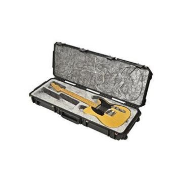 SKB Injection molded Strat/TeleFlight Case - TSA Latches, w/wheels