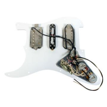 Duncan SH-2n/STK-S4m/SH-4 Strat Loaded Pickguard White Pearl / Black