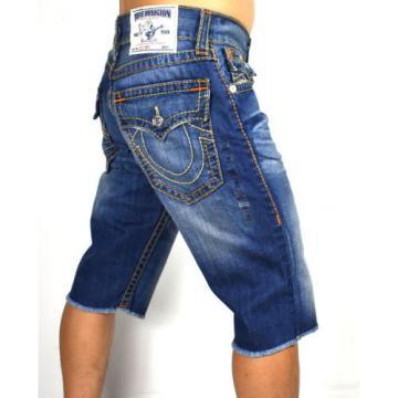 True Religion $238 Men's Hand Picked Straight Big T Shorts - MNR859SKB5 Size 30
