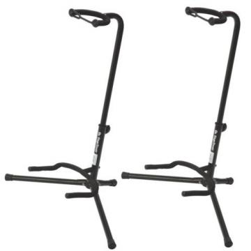 On Stage XCG4 Black Tripod Guitar Stand 2 Pack Two-Pack