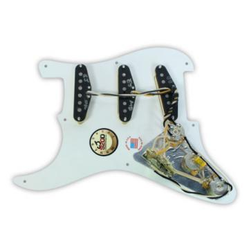 920D Loaded Pickguard Fender Eric Johnson White 1 Ply 8 Hole/Aged White Pickups