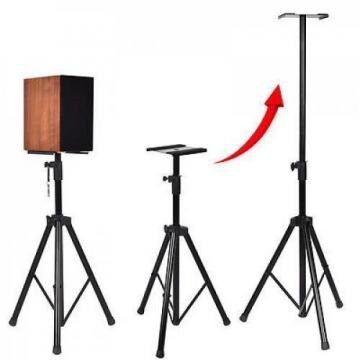 Pair Heavy Duty Adjustable Studio Monitor Speaker Stands Tripod Concert Band DJ