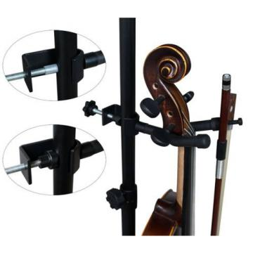 Vizcaya VLH10 Violin Hanger With Bow Peg Attachment for Music Stand/Microphone S