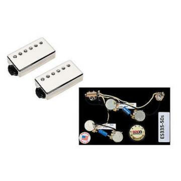 Duncan SH-18 Whole Lotta Humbucker Set, Nickel + Free ES-335 50's Wiring Harness