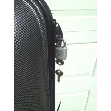BAGBOY locking nylon golf bag, carbon fiber style protects club heads skb case