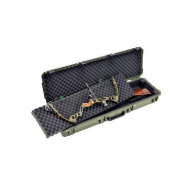 OD Green SKB Double Bow / Rifle case & Pelican TSA 1750 Lock. With foam