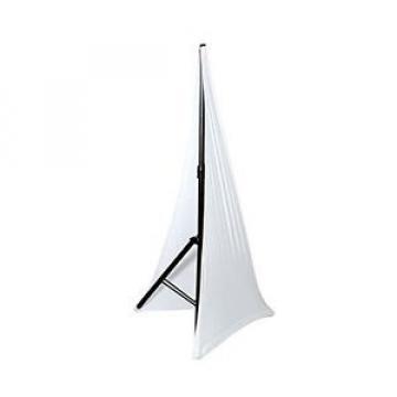 New DJ Speaker/Light Stand Scrim, Universal & Mountable for Tripod Stands, White