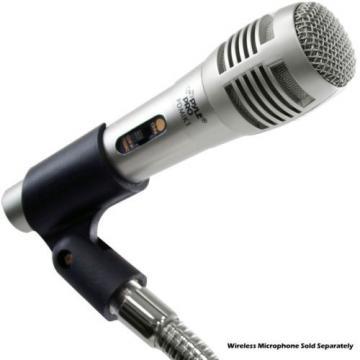 Pyle PMKS8 Desktop Microphone Stand Table Mic Holder Mount w/ Flexible Gooseneck