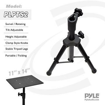PylePro Pyle Pro DJ Adjustable Tripod Laptop Stand, 16-28 Inch, (PLPTS2)