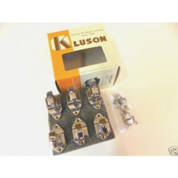 KLUSON FIREBIRD KBT-9006SLN/M 6 INLINE TUNERS W/ KEYSTONE BUTTONS NICKEL GIBSON
