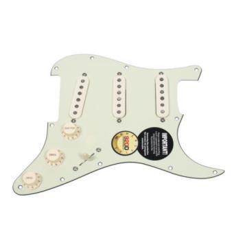 920D Loaded Strat Pickguard Klein Jazzy Cat Pickups 7 Way Switching MG/AW