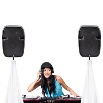 Pyle PSCRIMW2 DJ Speaker / Light Stand Scrim, Universal Compatibility & for 2