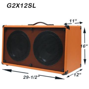 (1) 2x12 Guitar Speaker Cabinet Orange Tolex W/Celestion Rocket 50 Speakers