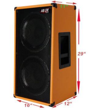 2x12 Vertical Guitar Speaker Cabinet Fire Hot Red W/Celestion Seventy 80 Spkrs