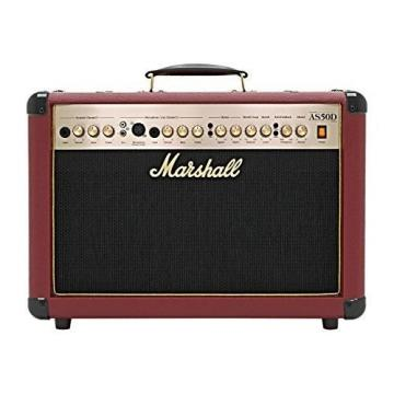 Marshall Amps Marshall AS50D Ox Blood Limited Edition 50w 2x8 Acoustic Combo