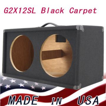 2X12 Guitar Speaker Extension Empty Cabinet Black carpete finish G212SL-BCP