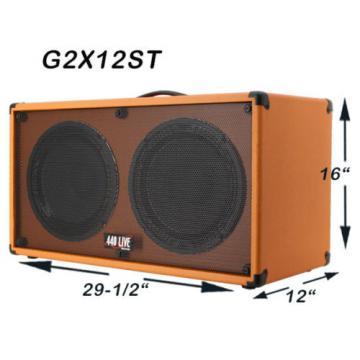 2x12 Guitar Spkr Cab Charcoal black Tolex W/Celestion Classic lead 80 Speakers