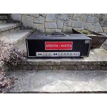 RARE 1969/70 Simms Watts AP100 Tube Amp Head - Marshall Meets Hiwatt -  VGC!!!