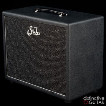 NEW SUHR 1X12 CLOSED BACK CABINET - BLACK / SILVER - BADGER MATCHING CAB