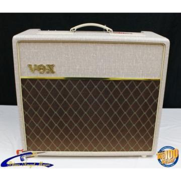 Vox Hand-Wired AC15HW1X 15W 1x12 Tube Guitar Combo Amp Fawn Alnico Blue #31148