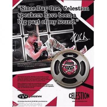 Celestion Speakers - Eddie Van Halen  - 2008 Print Advertisement