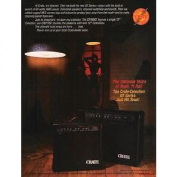 1984 PROMO AD Crate Celestion GT series Amps FAIRCHILD