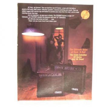 retro magazine advert 1985 CRATE celestion