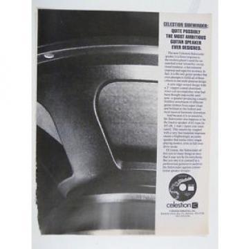 retro magazine advert 1985 CELESTION sidewinder