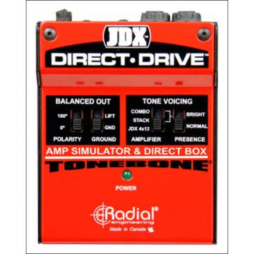 Radial JDX Direct-Drive Active Guitar Amp Simulator Direct Box