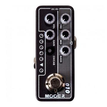 Mooer Micro Preamp 010 Two Stones Guitar Effects Pedal +Picks