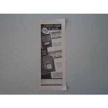 advertising Pubblicità 1935 RADIO CGE OFEON/CELESTION