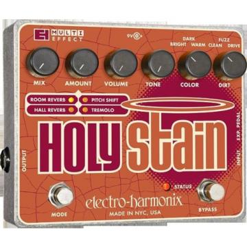 New Electro-Harmonix EHX Holy Stain Distortion/Reverb/Pitch/ Multi-Effects Pedal