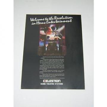 Original paper Advert - 1993 - Celestion Home Theatre