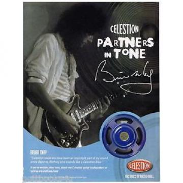 Celestion Speakers - Brian May of Queen - 2006 Print Advertisement