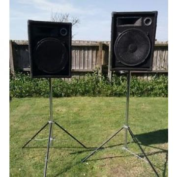 PA speakers with stands