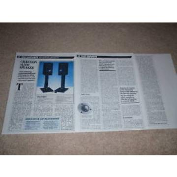 Celestion SL600 Reference Speaker Review, 1984,3 pages