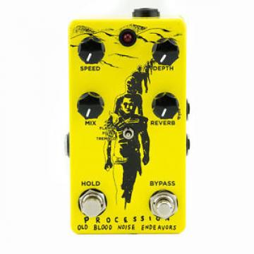 Old Blood Noise Procession Reverb V2, Yellow & Black