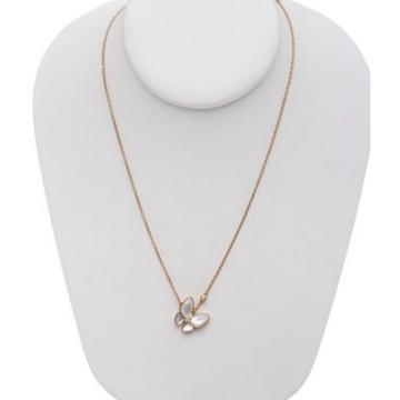 Van Cleef & Arpels Two Butterfly 18K Diamond Pendant Necklace