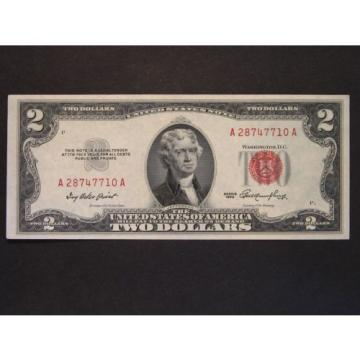 1953 $2 (TWO DOLLARS) FEDERAL RESERVE NOTE - CURRENCY – RED SEAL