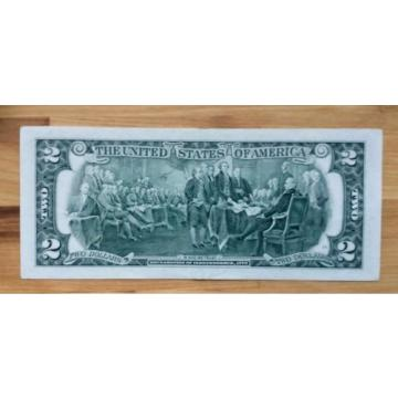 1995 USA $2 Two Dollar Paper Money Bank Note - No Tax
