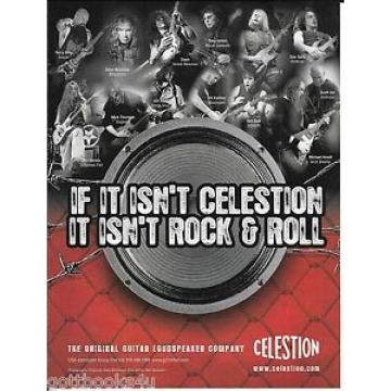 Celestion Speakers - Kerry King / Mustaine / Thomson / Susi - 2007 Print Ad