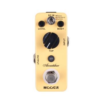 New Mooer Acoustikar Acoustic Guitar Simulator Guitar Effects Pedal!