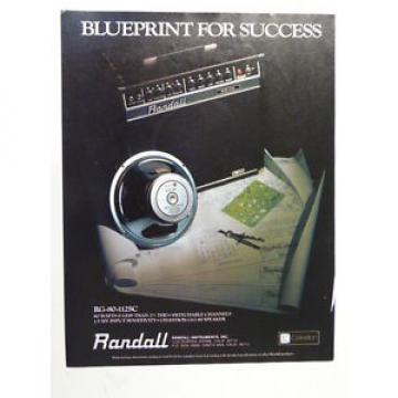 vintage magazine advert 1984 RANDALL RG 80 112SC / CELESTION